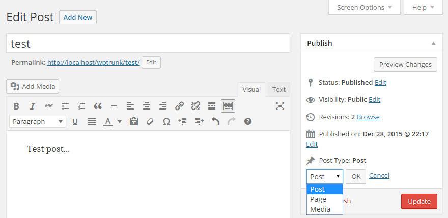 WordPress文章类型转换插件:Post Type Switcher